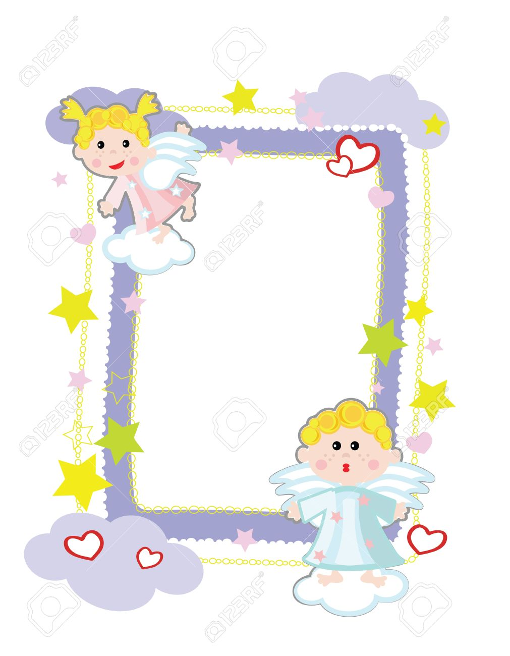 Frame With Angels Royalty Free Cliparts, Vectors, And Stock ...