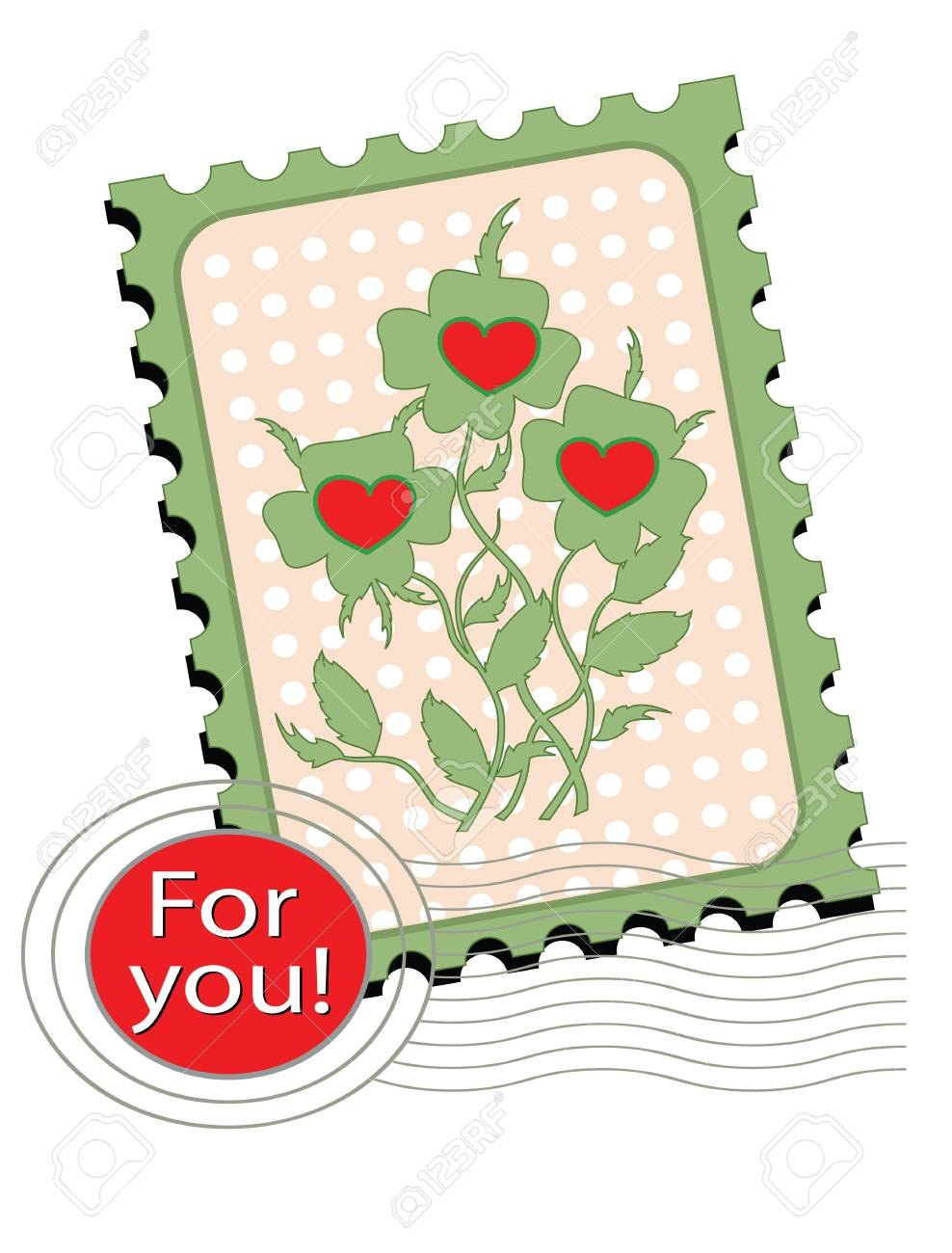 Postage stamp with  pansies Stock Vector - 13538228