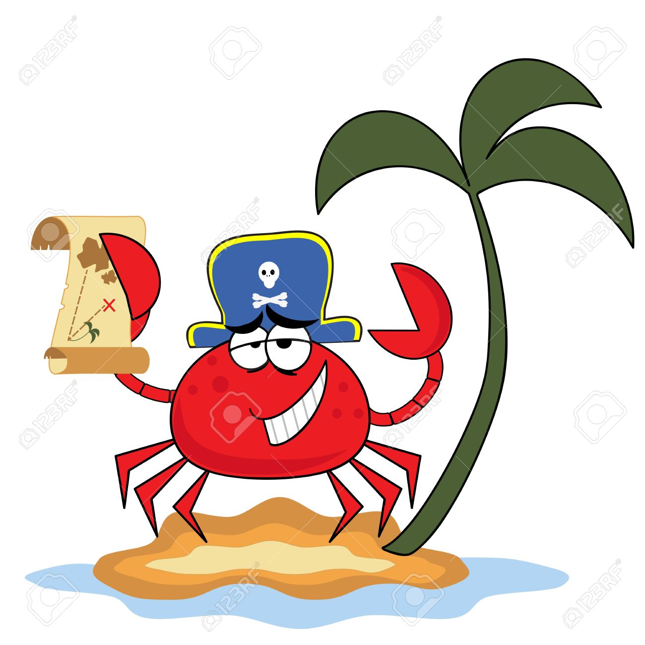 crab pirate royalty free cliparts vectors and stock illustration