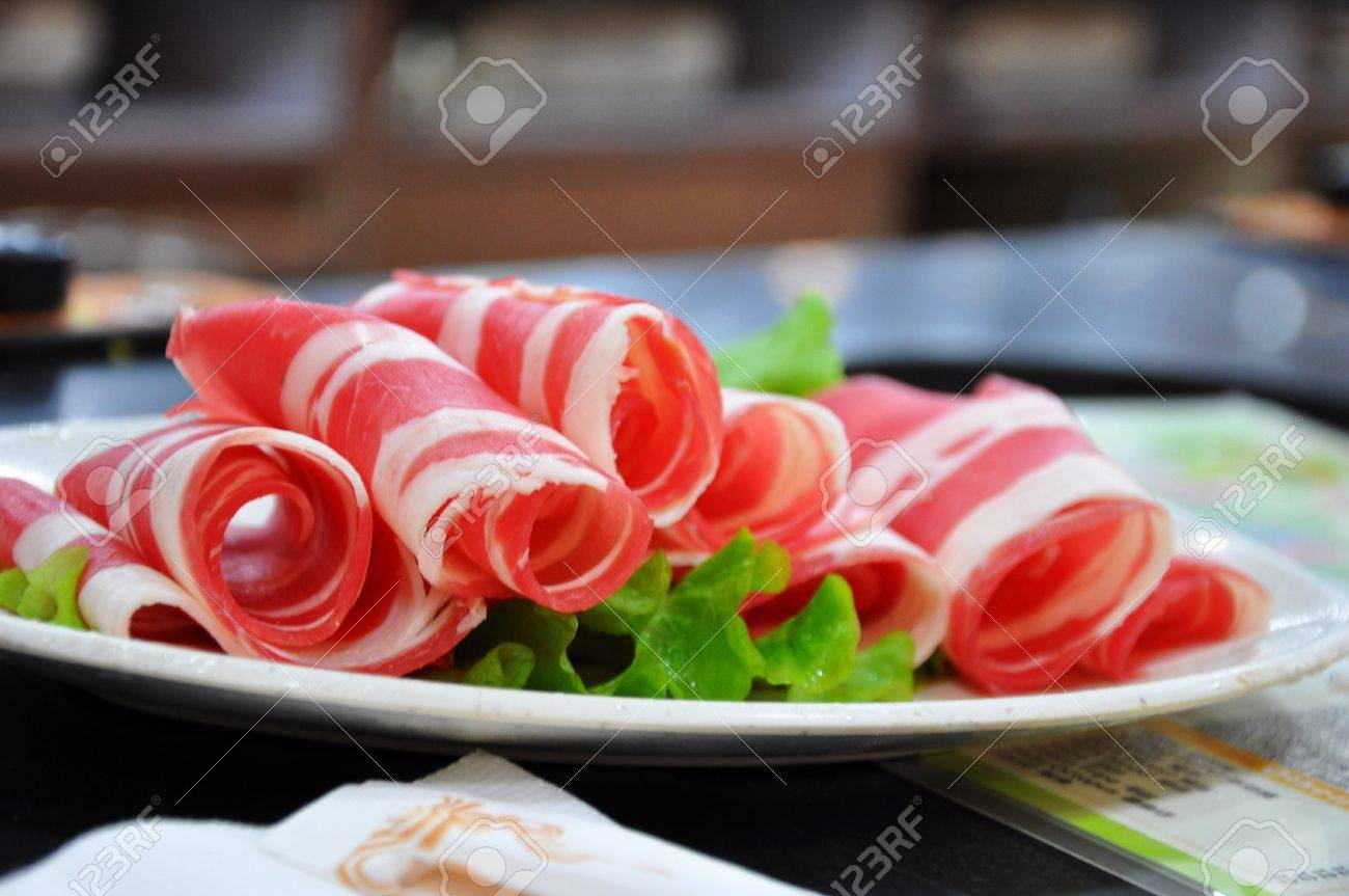 Ingredients for Hot Pot in Bejing in China Stock Photo - 7601116
