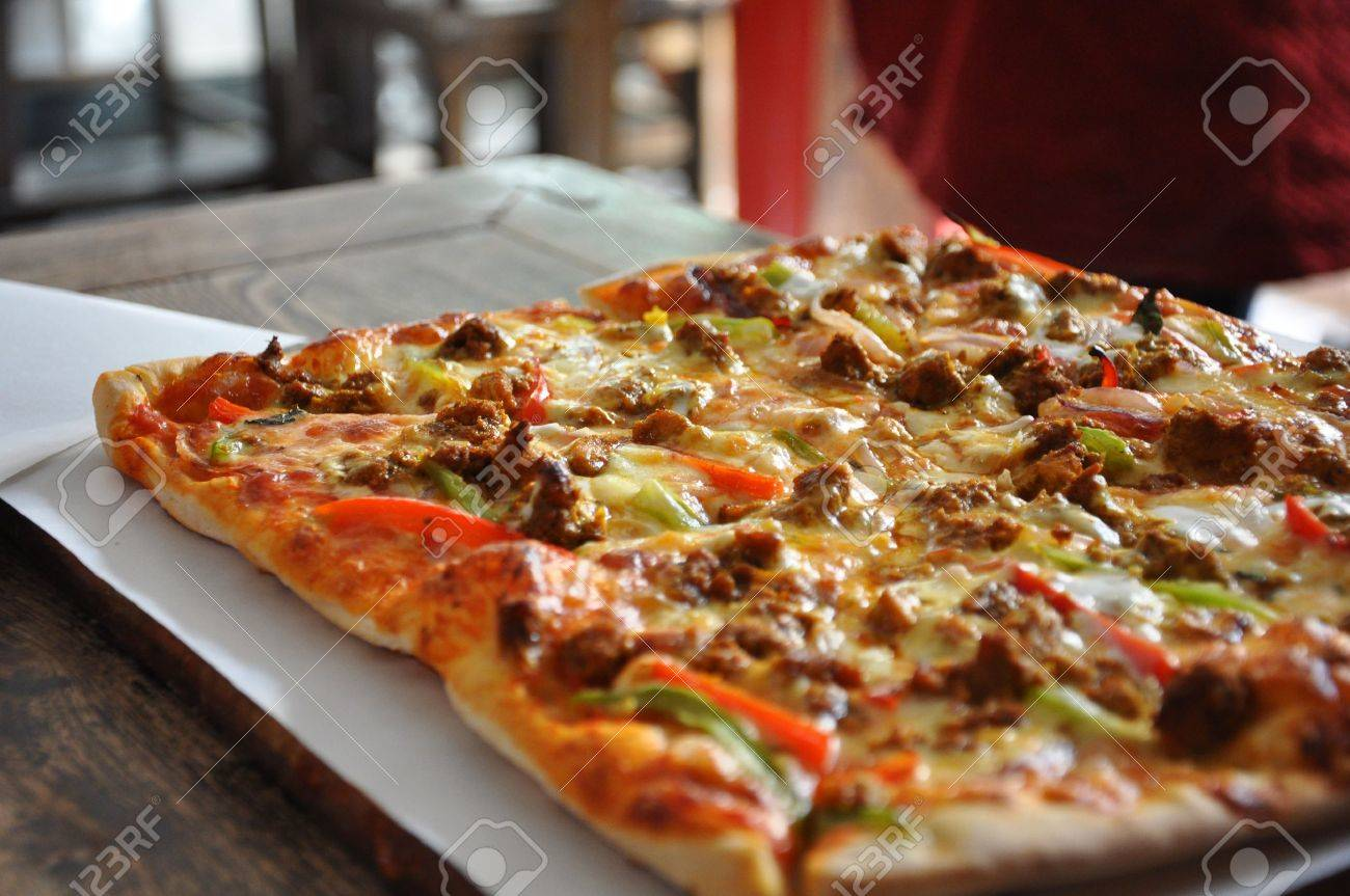 Pizza in the Hutongs in Beijing in China Stock Photo - 7601127
