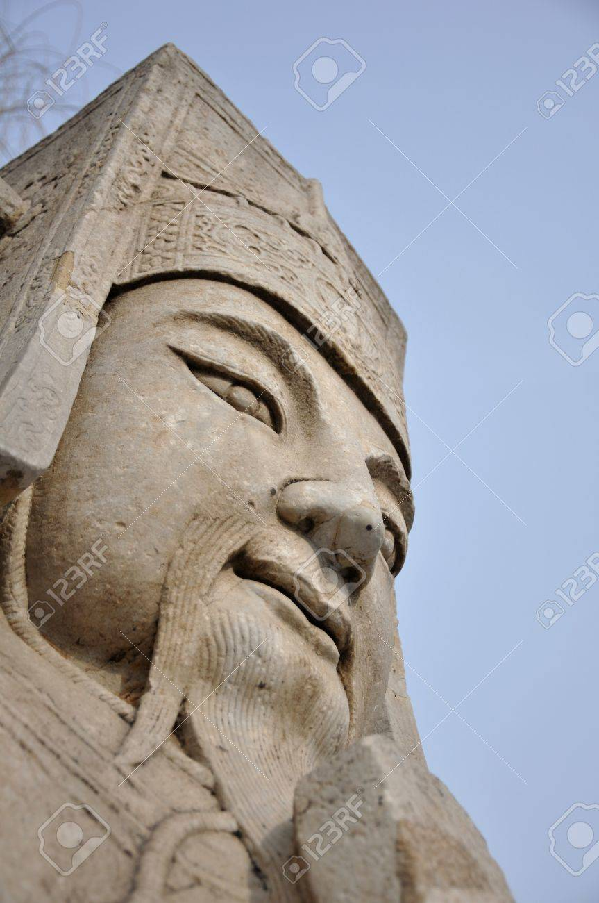 Stone guardian statue on the sacred path to the Ming Tombs in Beijing China Stock Photo - 8139785