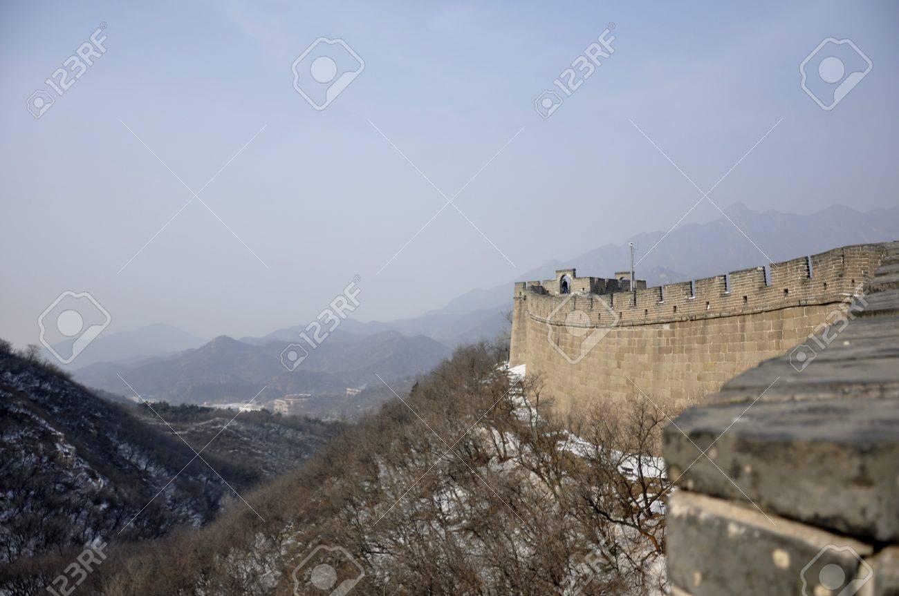 Skyline at the Great Wall at Badaling near Beijing, China Stock Photo - 8139790