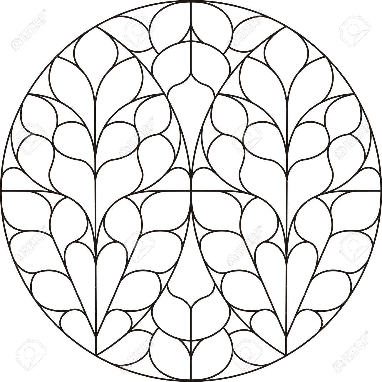 Circular cathedral window - 8798089