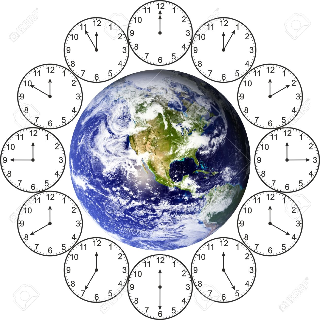 Time Around The World Stock Photo, Picture And Royalty Free Image ...