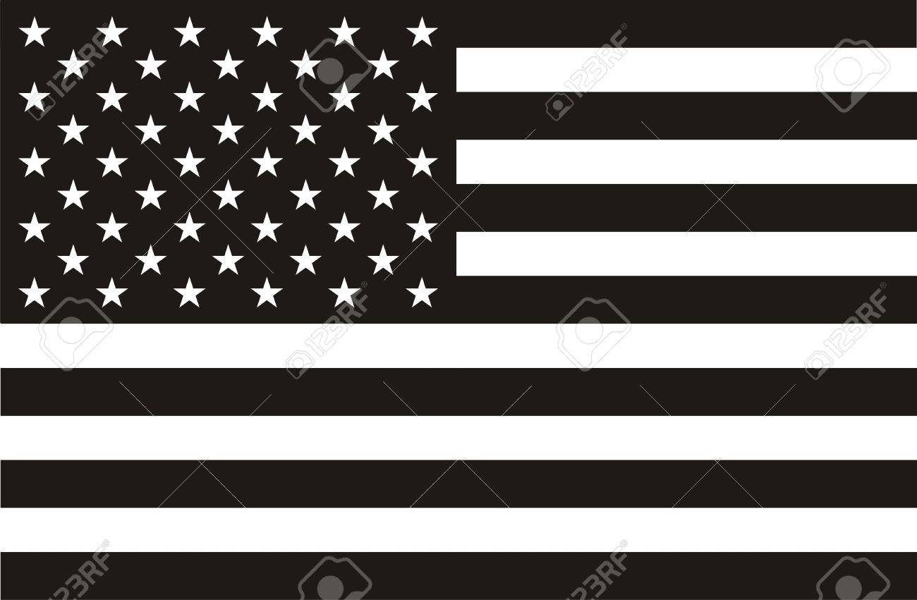 Black and white American flag Stock Photo - 10959797