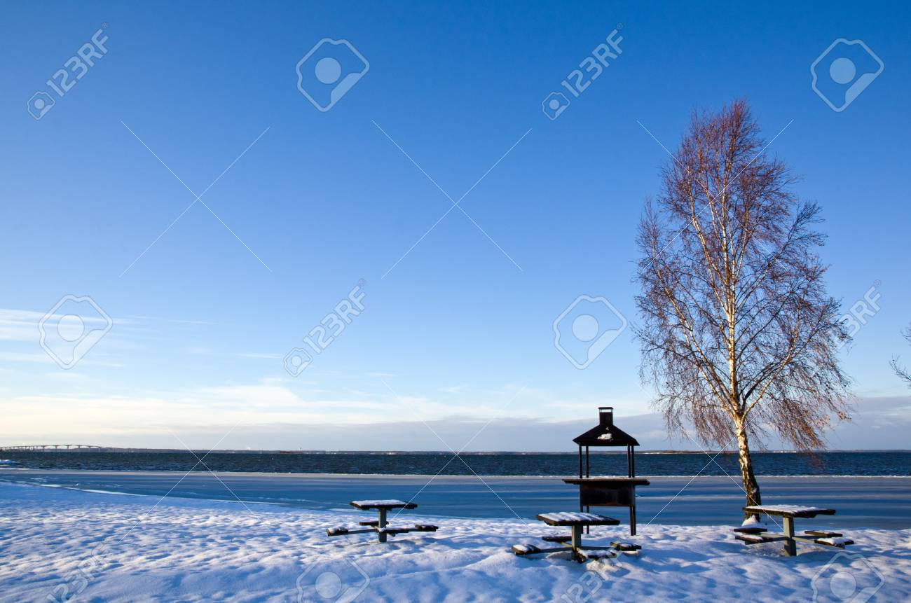 Winter at barbeque place Stock Photo - 16795757