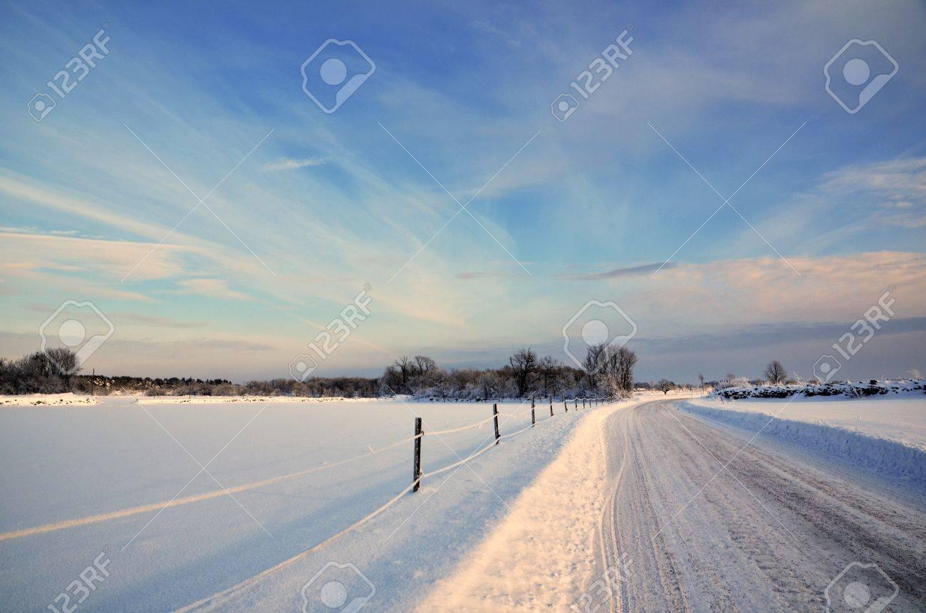 Sunny winter landscape Stock Photo - 17443045