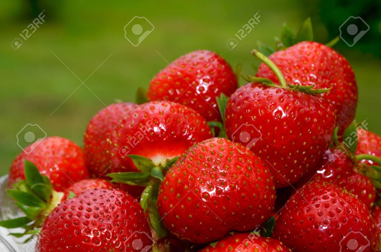 Closeup of fresh strawberries Stock Photo - 20724562