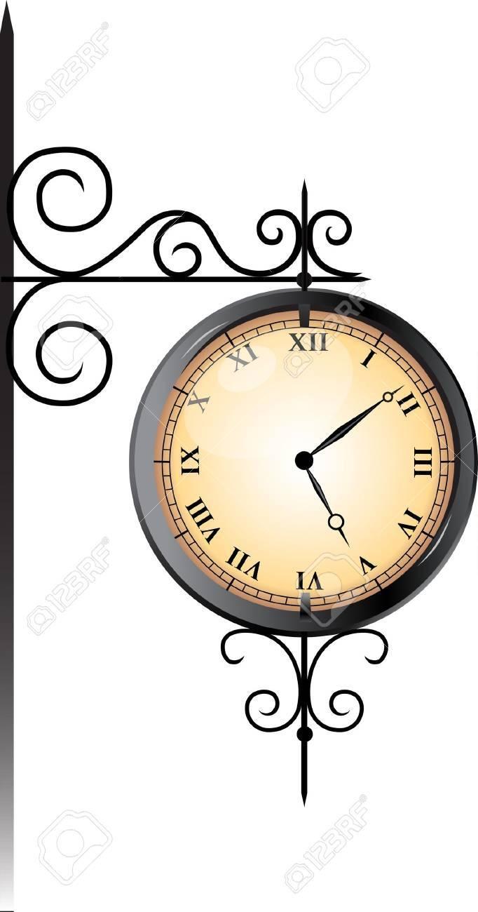 Street clock Stock Vector - 11418935
