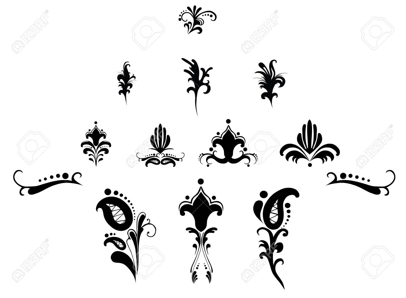 pattern floral elements for design Stock Vector - 12145450