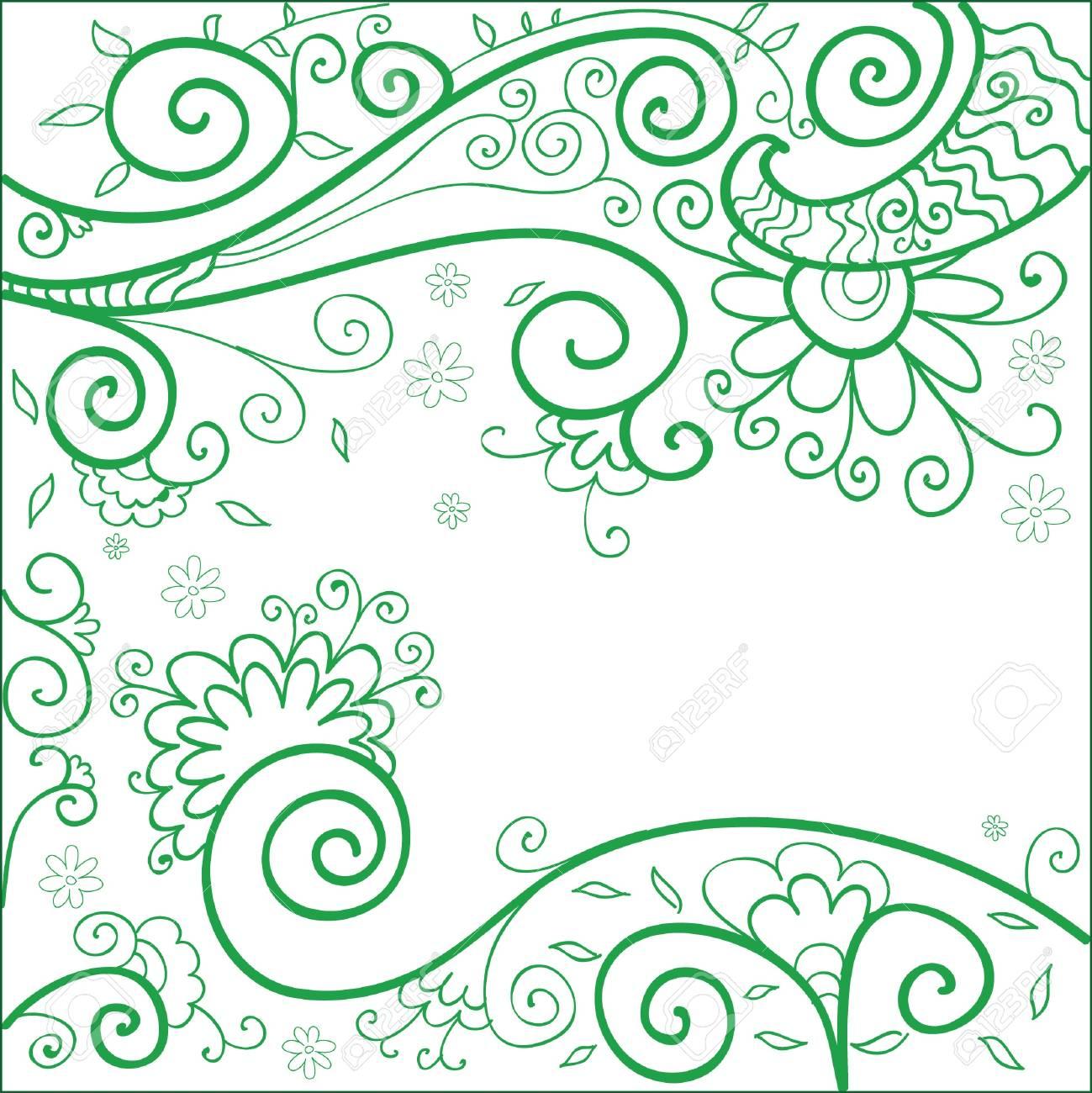 Vector handdrown  illustration of floral background Stock Vector - 14327943