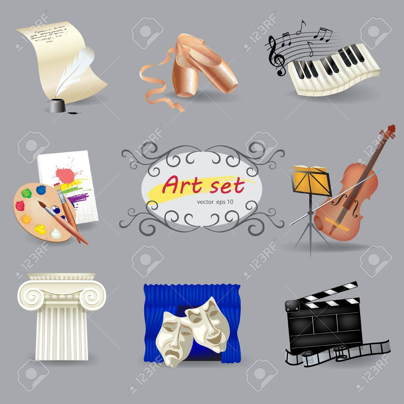 Set of art and entertainment symbols Stock Vector - 15065120