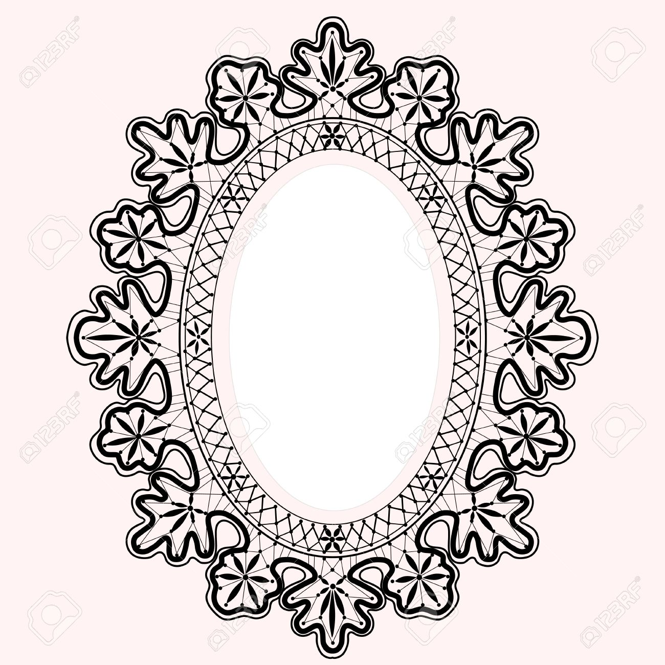 black lace oval frame vector royalty free cliparts vectors and rh 123rf com floral lace border vector floral lace border vector