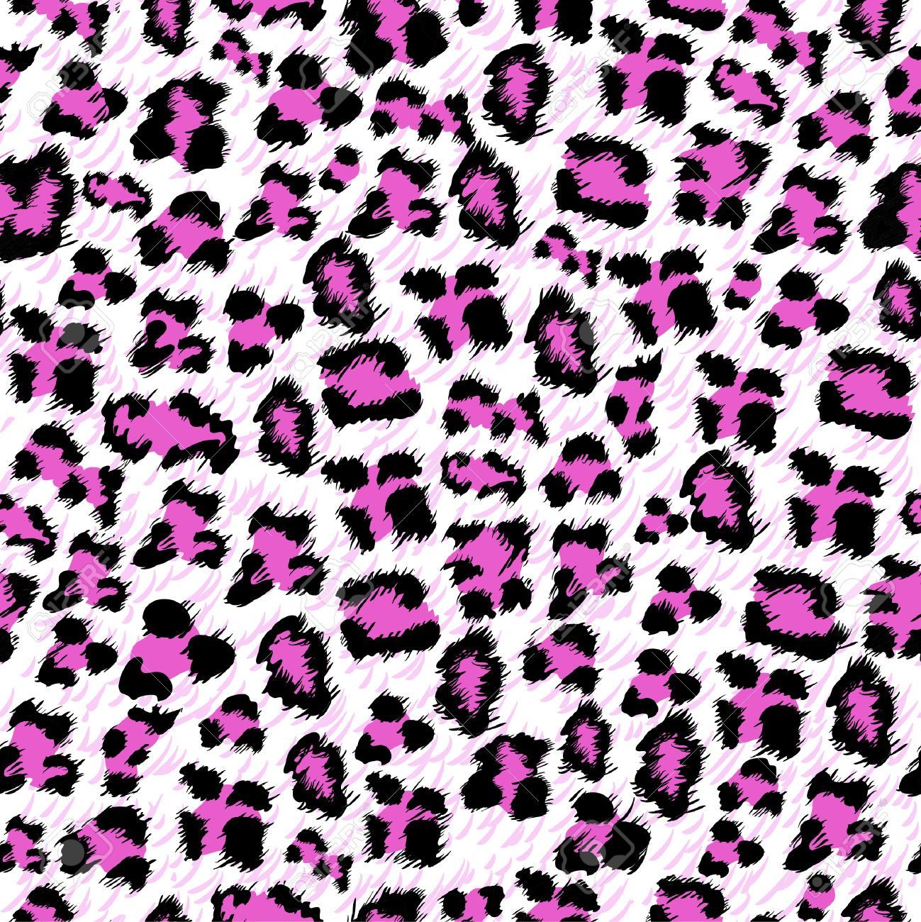 Pink and white cheetah print background