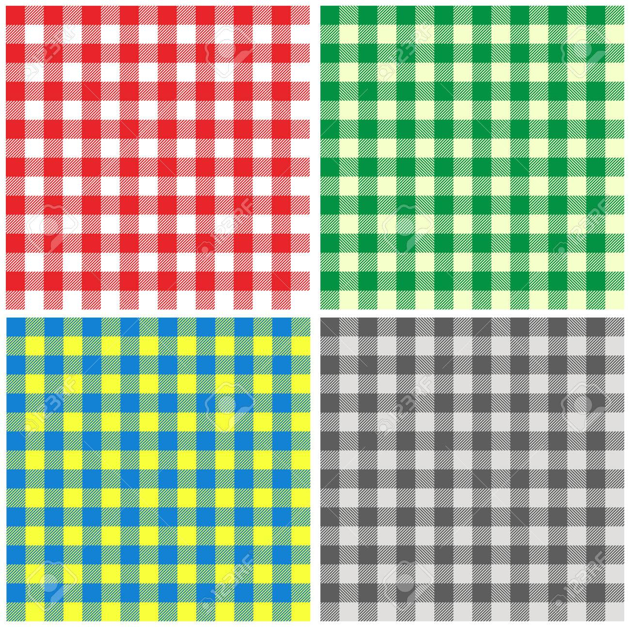 Set Of Seamless Different Color Backgrounds Tablecloth In Italian Style  Stock Vector   32100462
