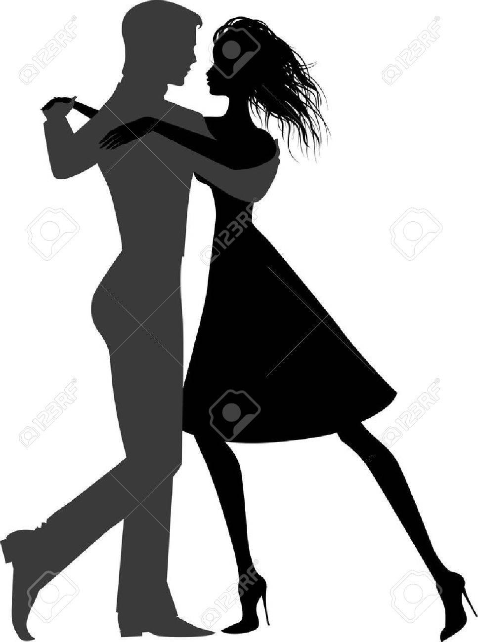 ダンス カップル シルエット イラスト ロイヤリティフリークリップ