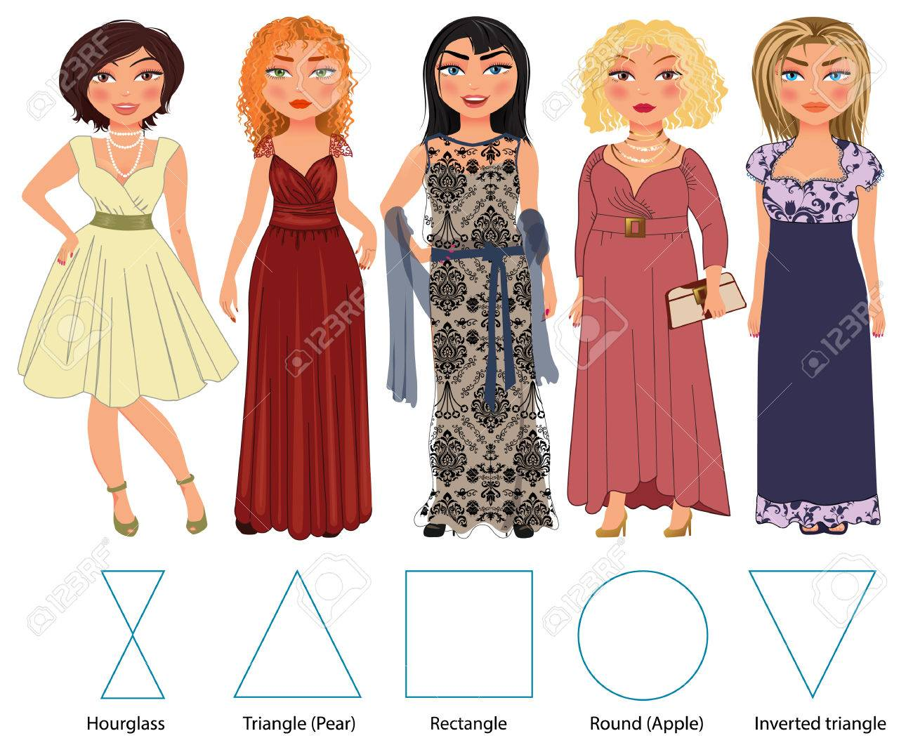 970dd3d8d4 Conjunto De Figuras Mujer S Diferentes Tipos De Manzana