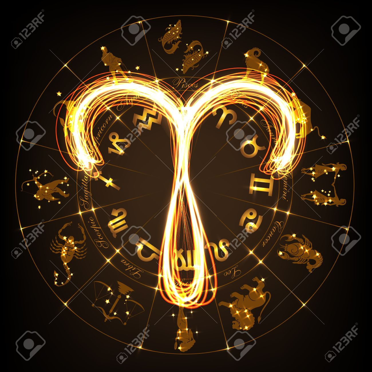 Zodiac sign aries in fire show style on horoscope circle zodiac sign aries in fire show style on horoscope circle background circle with signs biocorpaavc Gallery