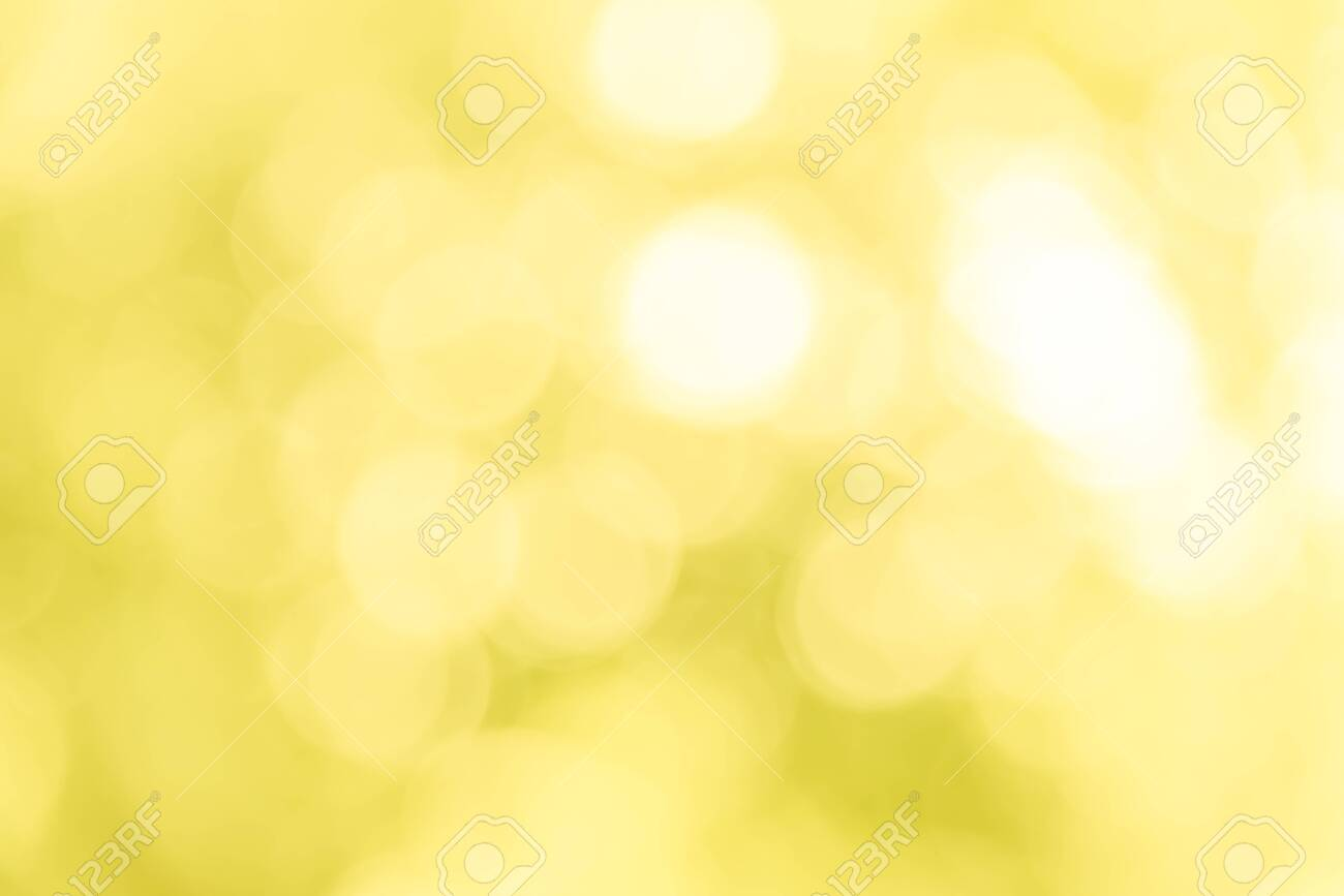 Yellow bokeh texture background from natural - 126794732
