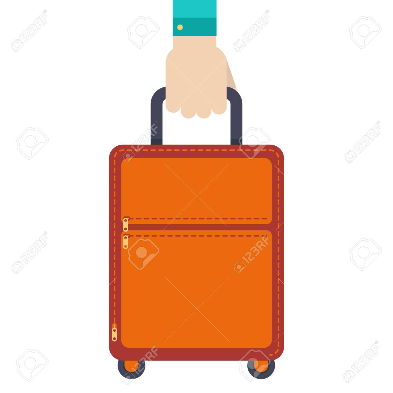 Hand Holding Travel Bag Vector Illustration On White Background Royalty Free Cliparts Vectors And Stock Illustration Image 89906277
