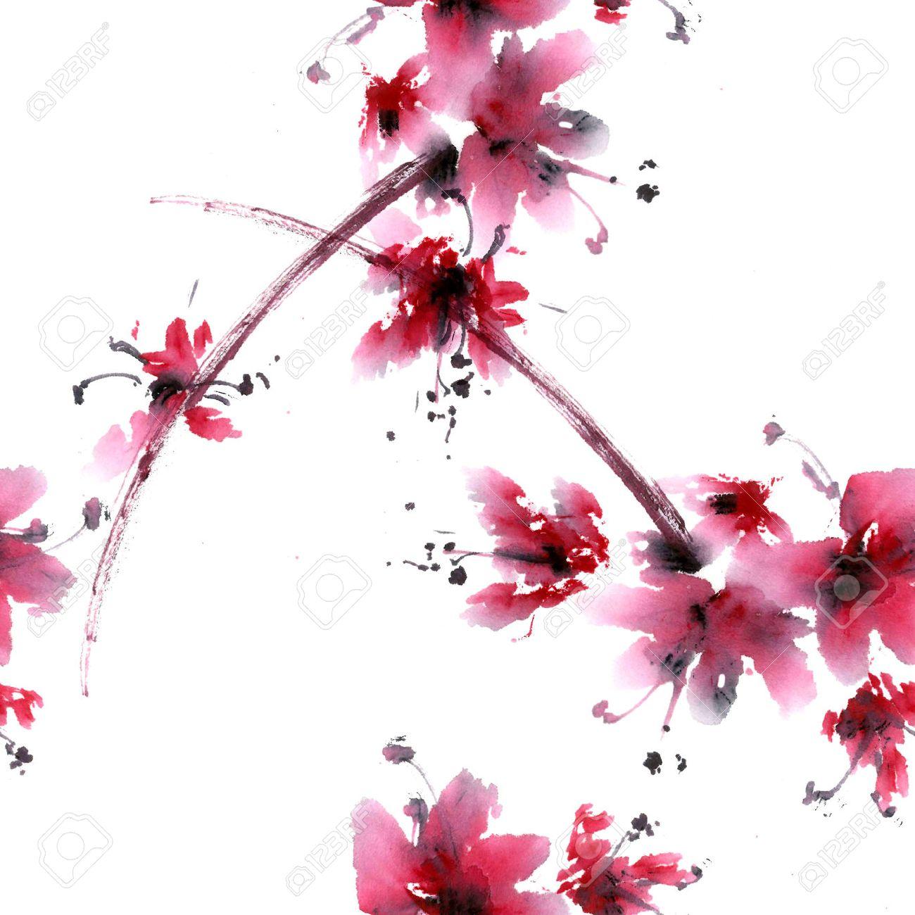Comment Dessiner Un Cerisier Japonais comment dessiner une fleur de cerisier. branche aquarelle dessine la
