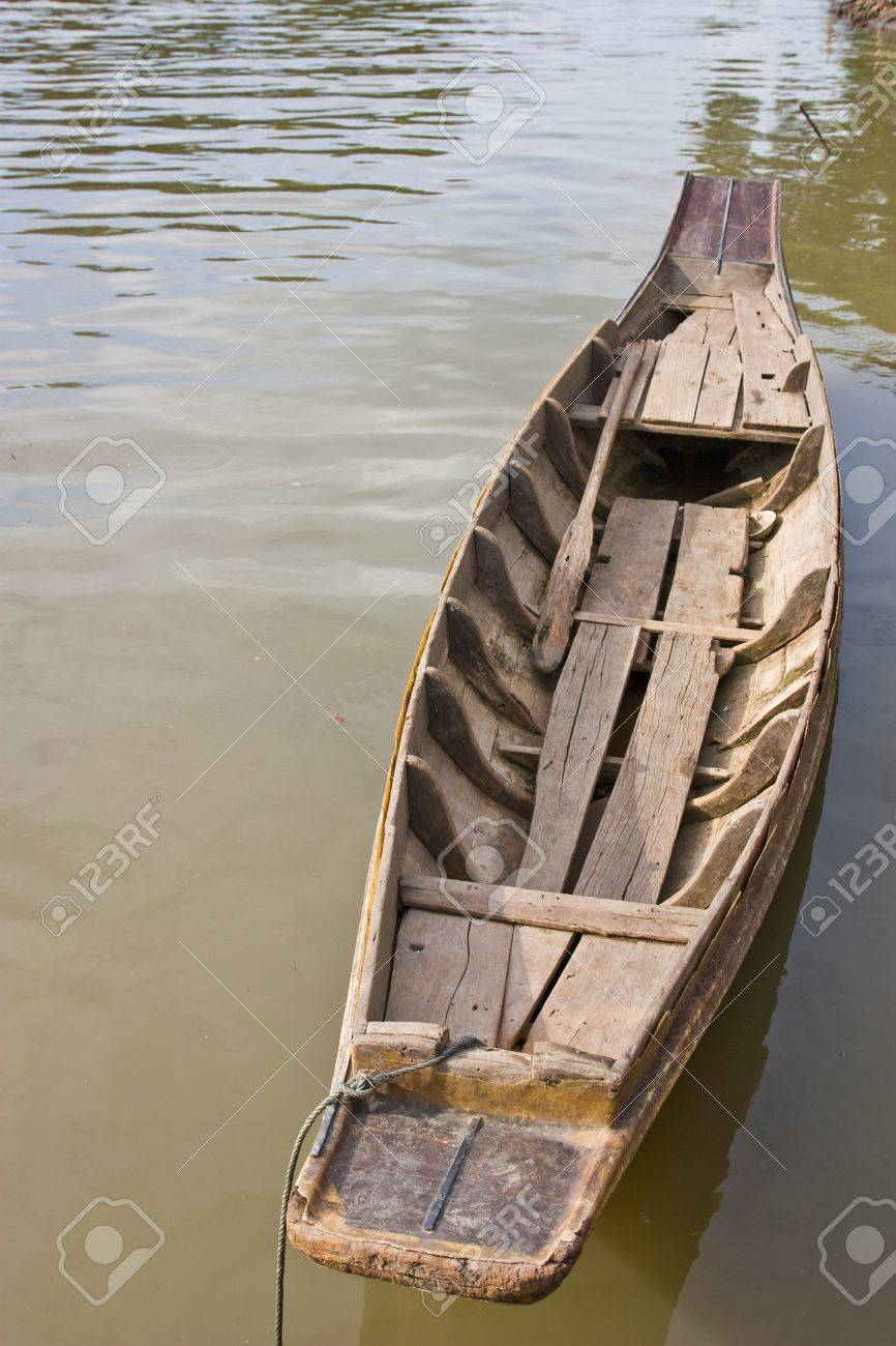 folk boat on countryside inThailand Stock Photo - 13660224