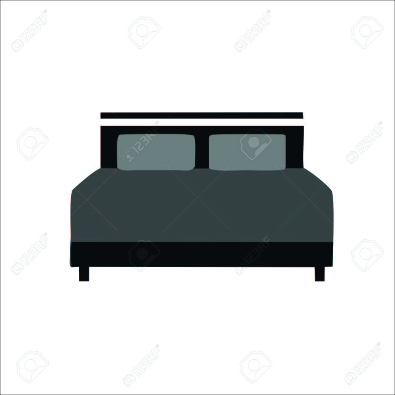 Bed Icon Vector Illustration Royalty Free Cliparts Vectors And