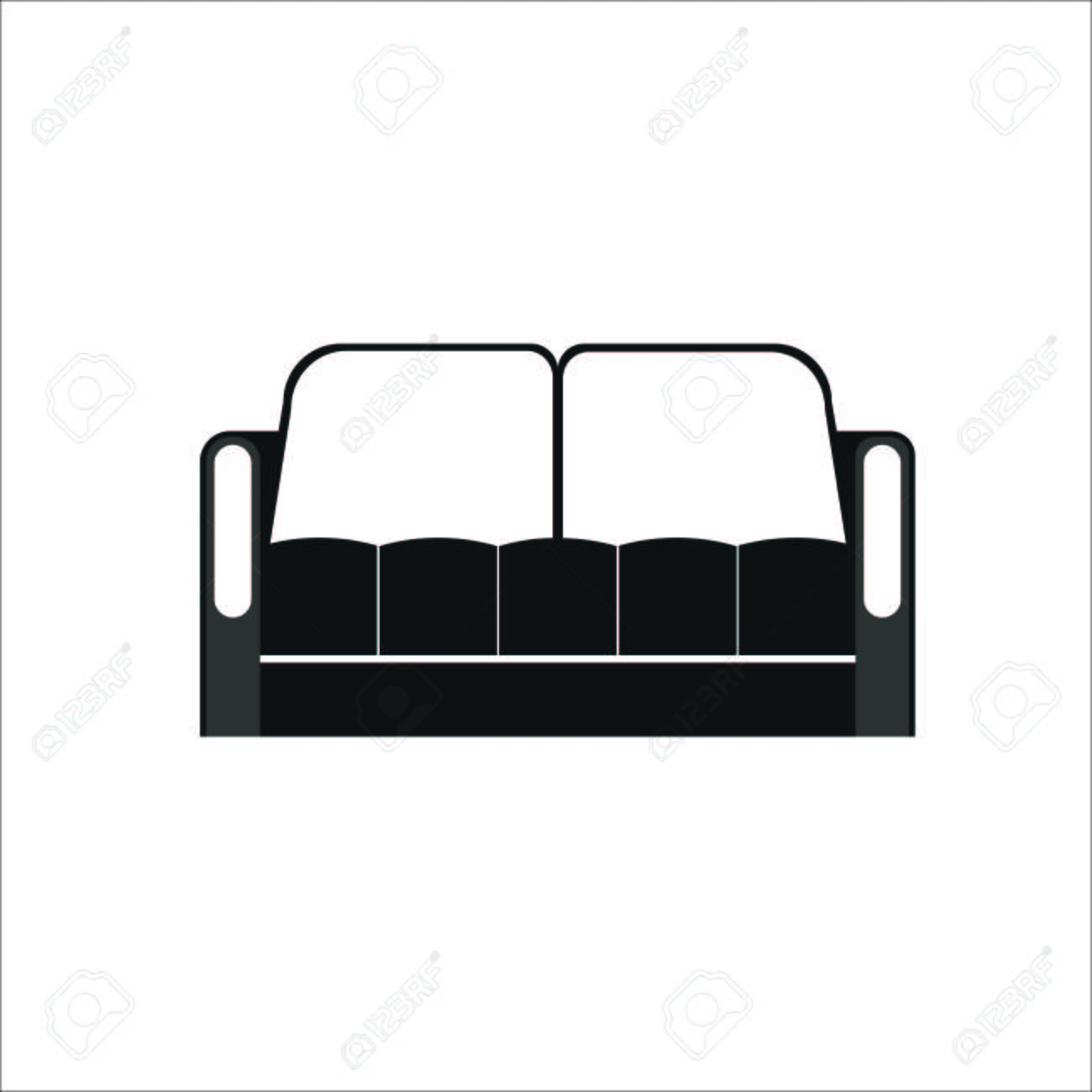 Sofa Icon Vector Illustration Royalty Free Cliparts Vectors And