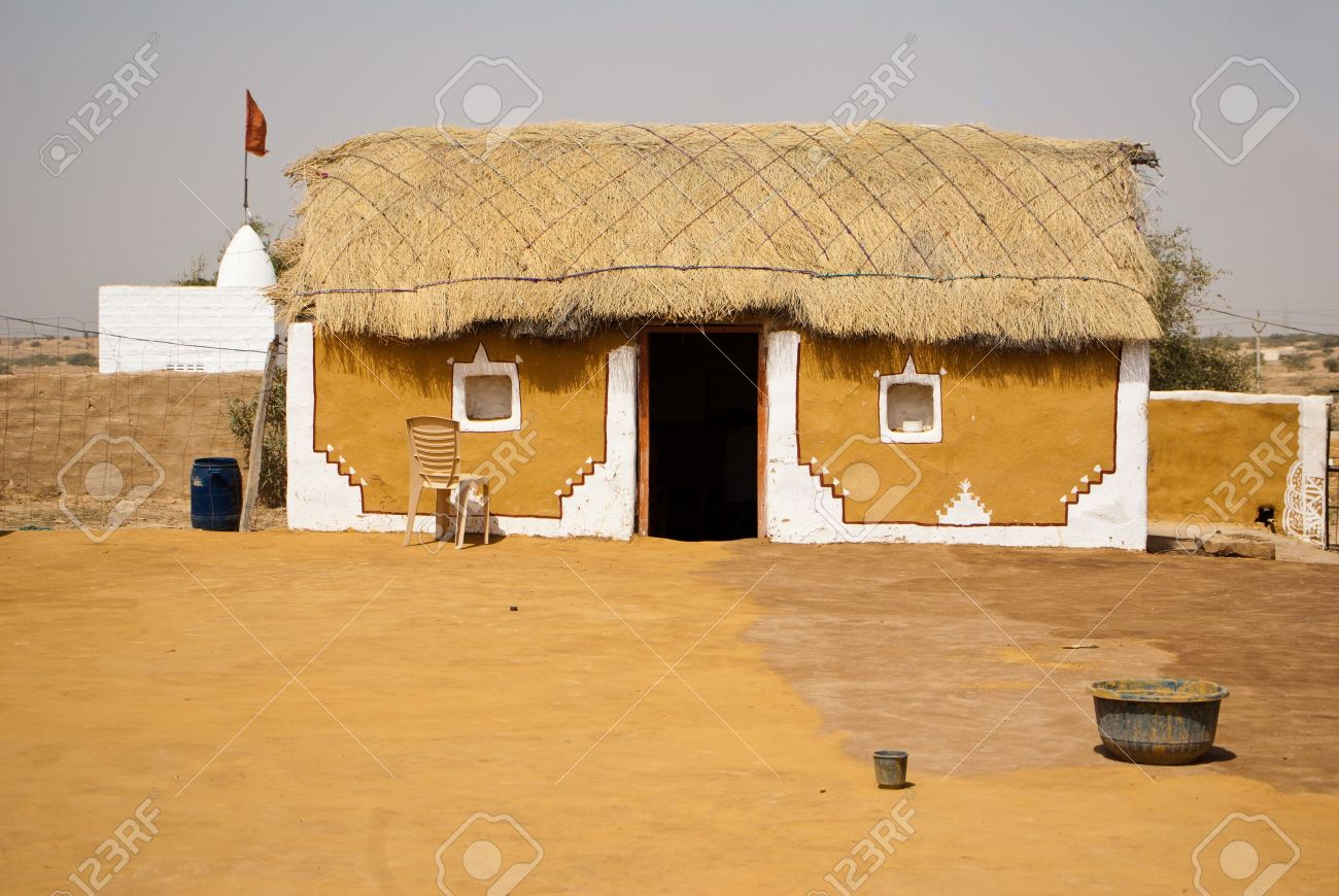 Indian house in the village stock photo 13047577