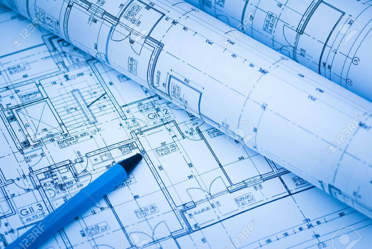 stock photo architectural drawings