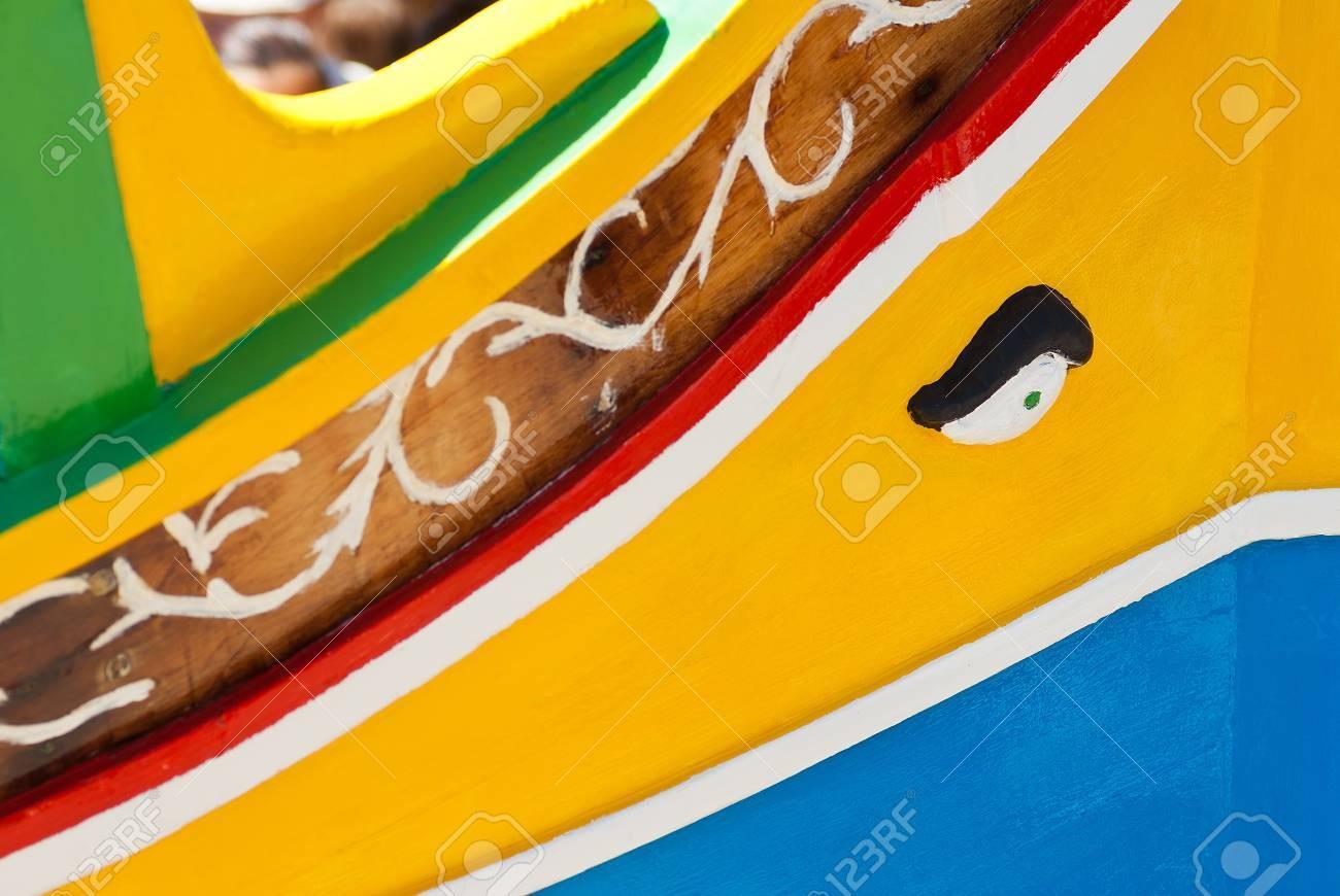 closeup of traditional fishing boats of  Malta Stock Photo - 16547485