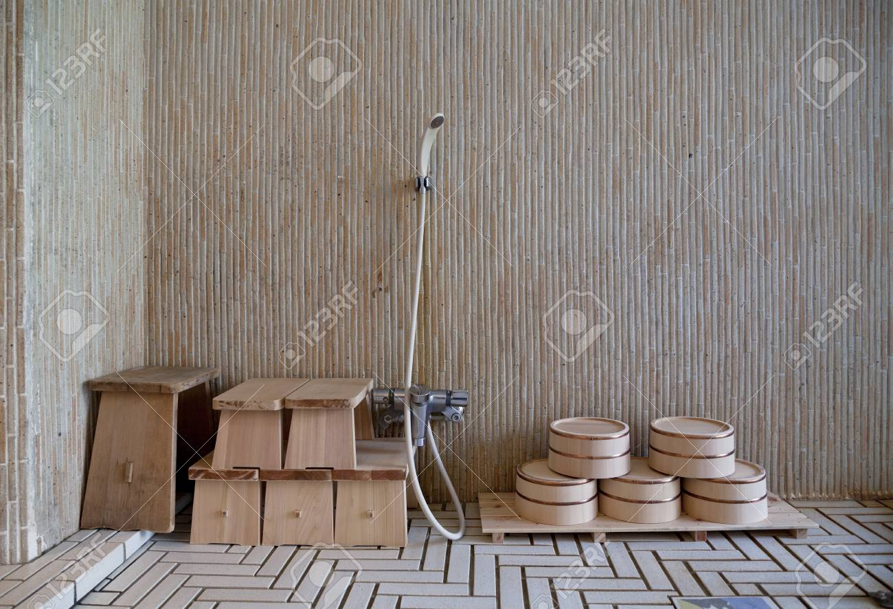 Traditional Japanese Bath Stock Photo, Picture And Royalty Free ...