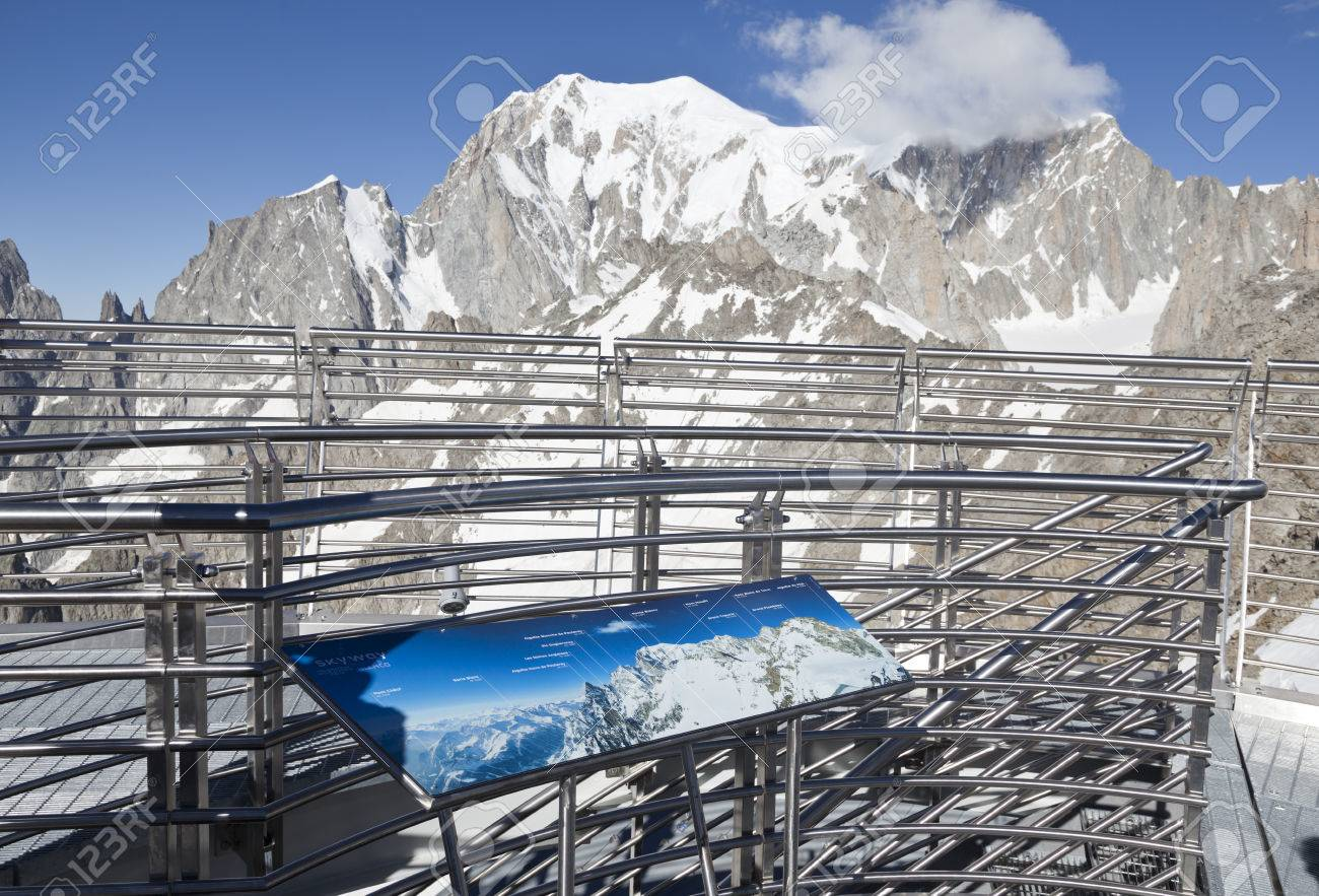 Panoramic Terrace Of Punta Helbronner New Skyway Monte Bianco