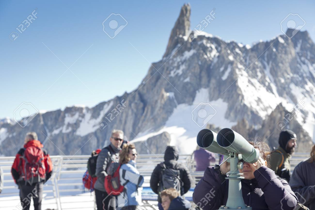 Courmayeur It July 29 2016 Unidentified People Take A Picture
