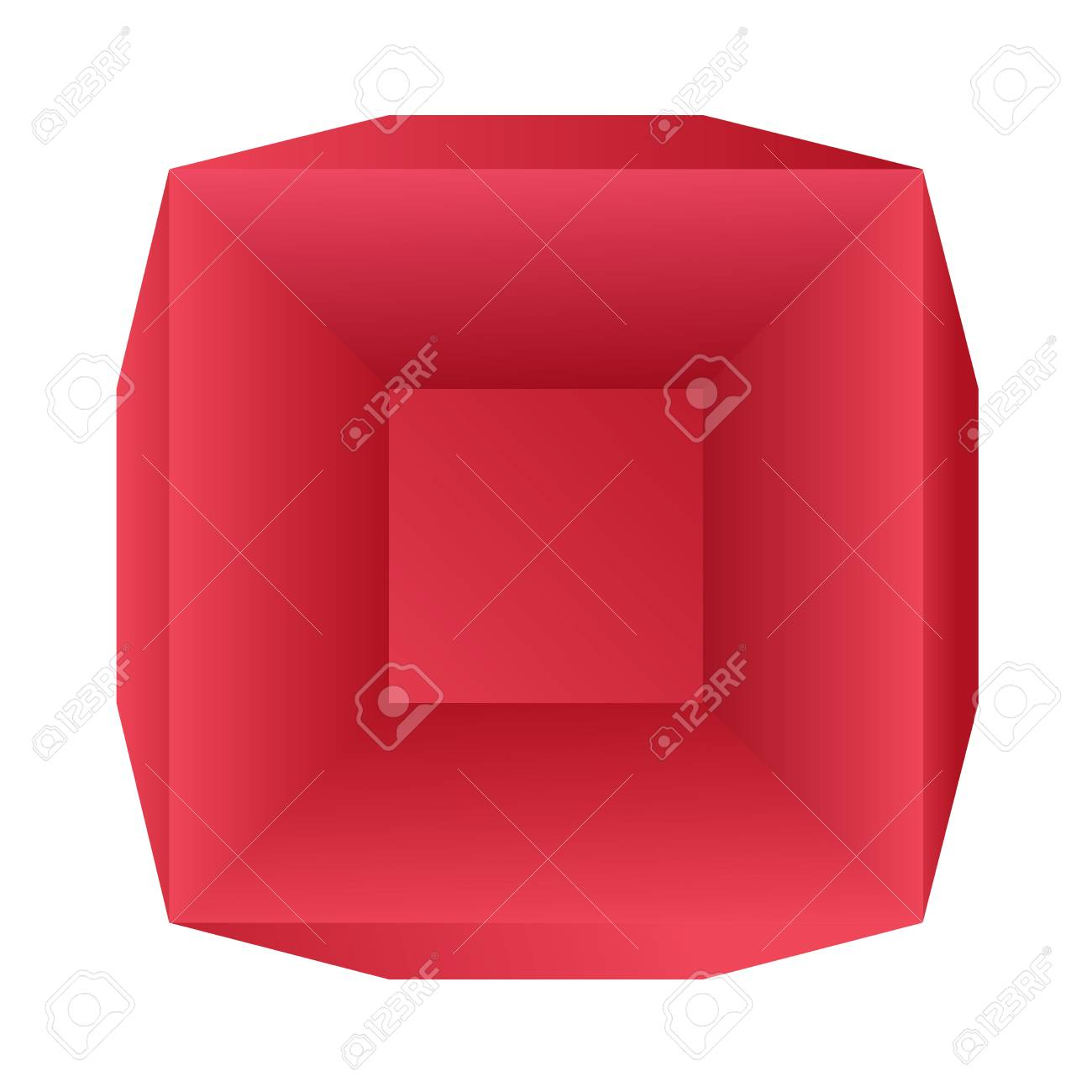paper red vector box template top view royalty free cliparts