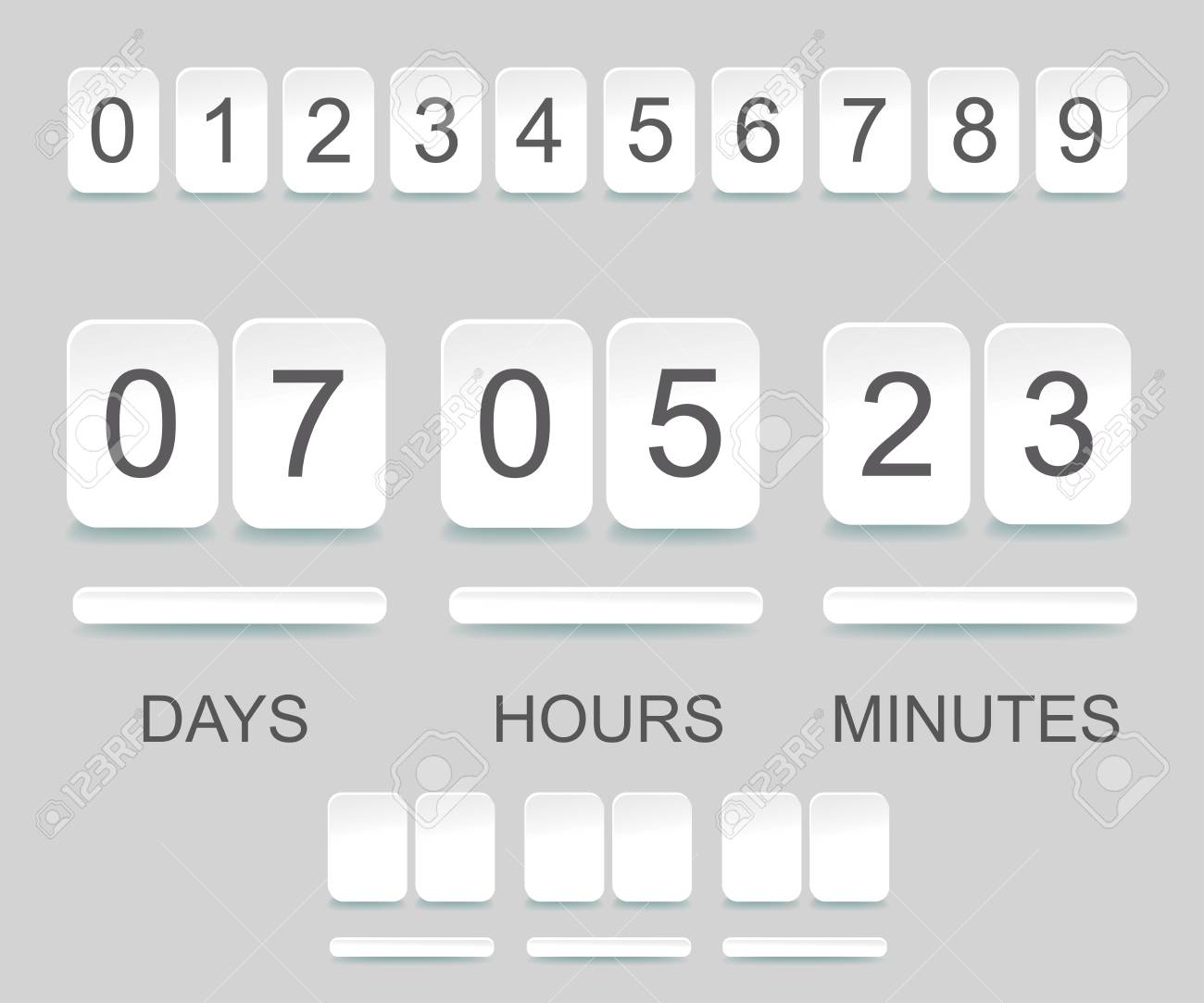 Countdown Timer Template. Counter Design For Website With Numbers ...