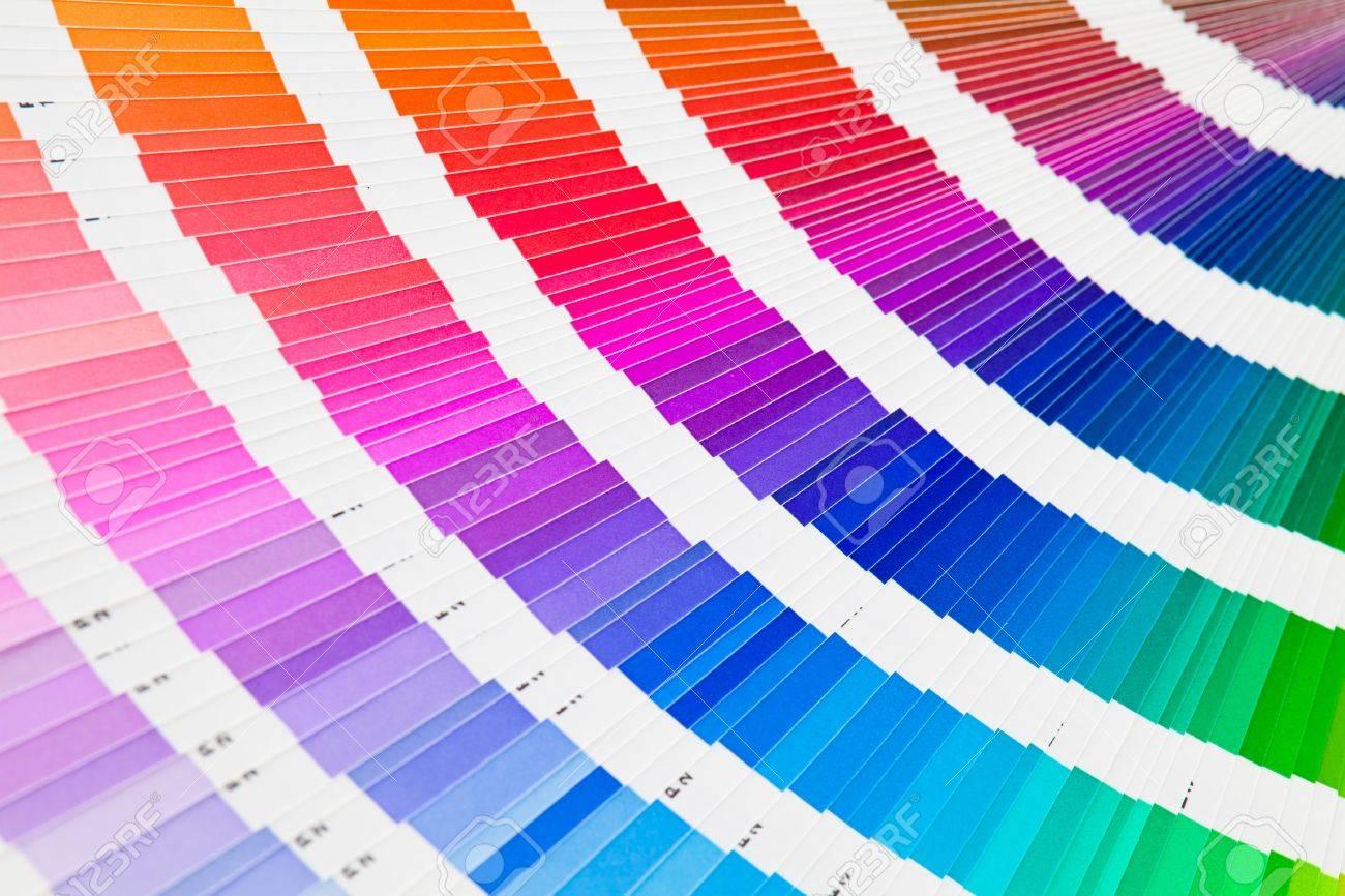 open pantone color guide sampler stock photo
