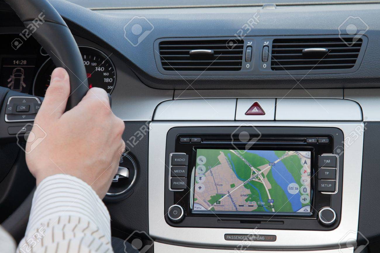 GPS navagation in interior of luxury car Stock Photo - 9158404