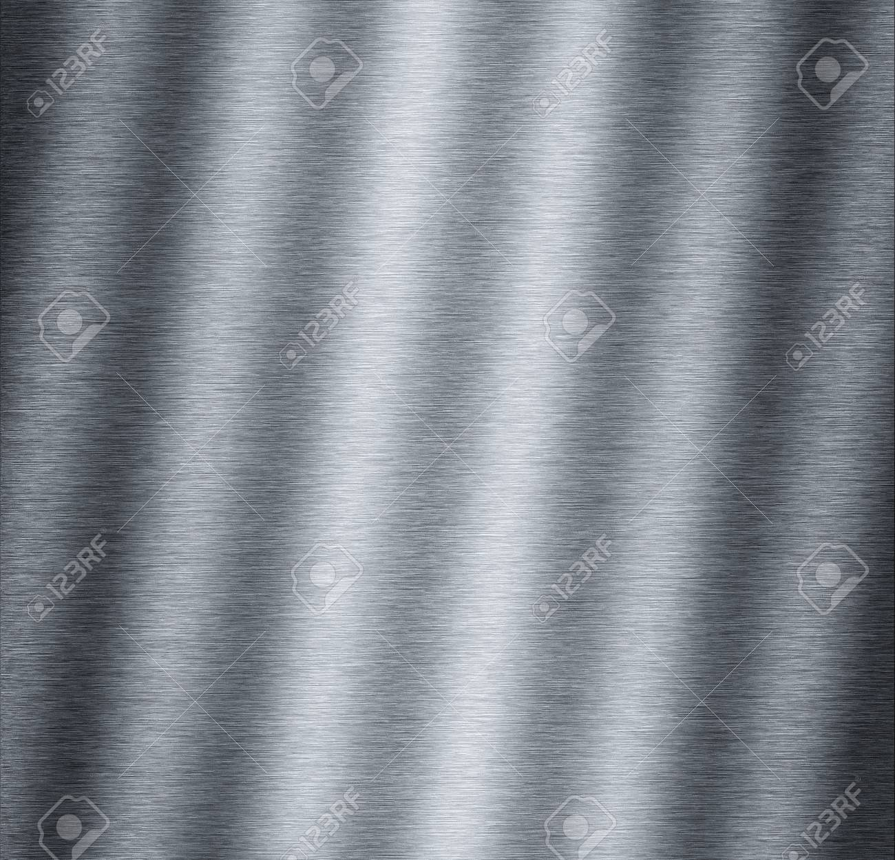 Waved aluminum metal plate useful for backgrounds Stock Photo - 9454848