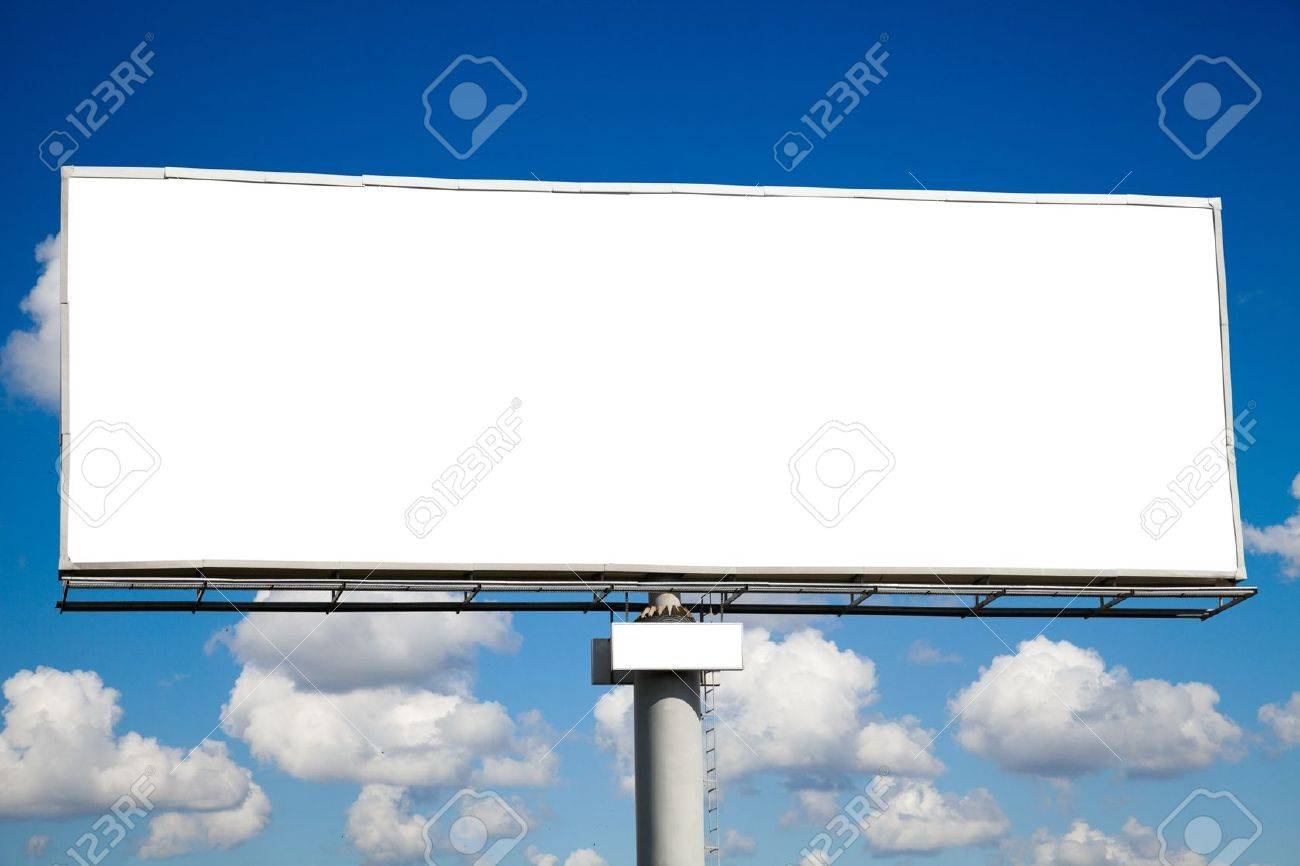 Blank billboard on blue sky for your advertisement Stock Photo - 10038190