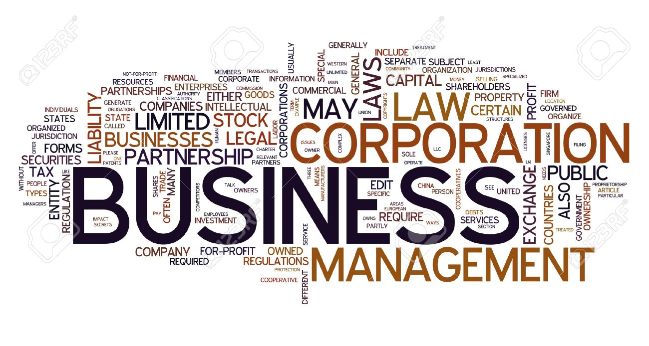 Business Word Concept In Tag Cloud Stock Photo, Picture And ...