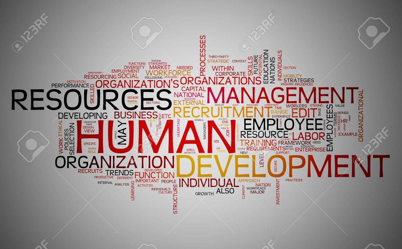 Human resources development concept in word tag cloud Stock Photo - 10493604