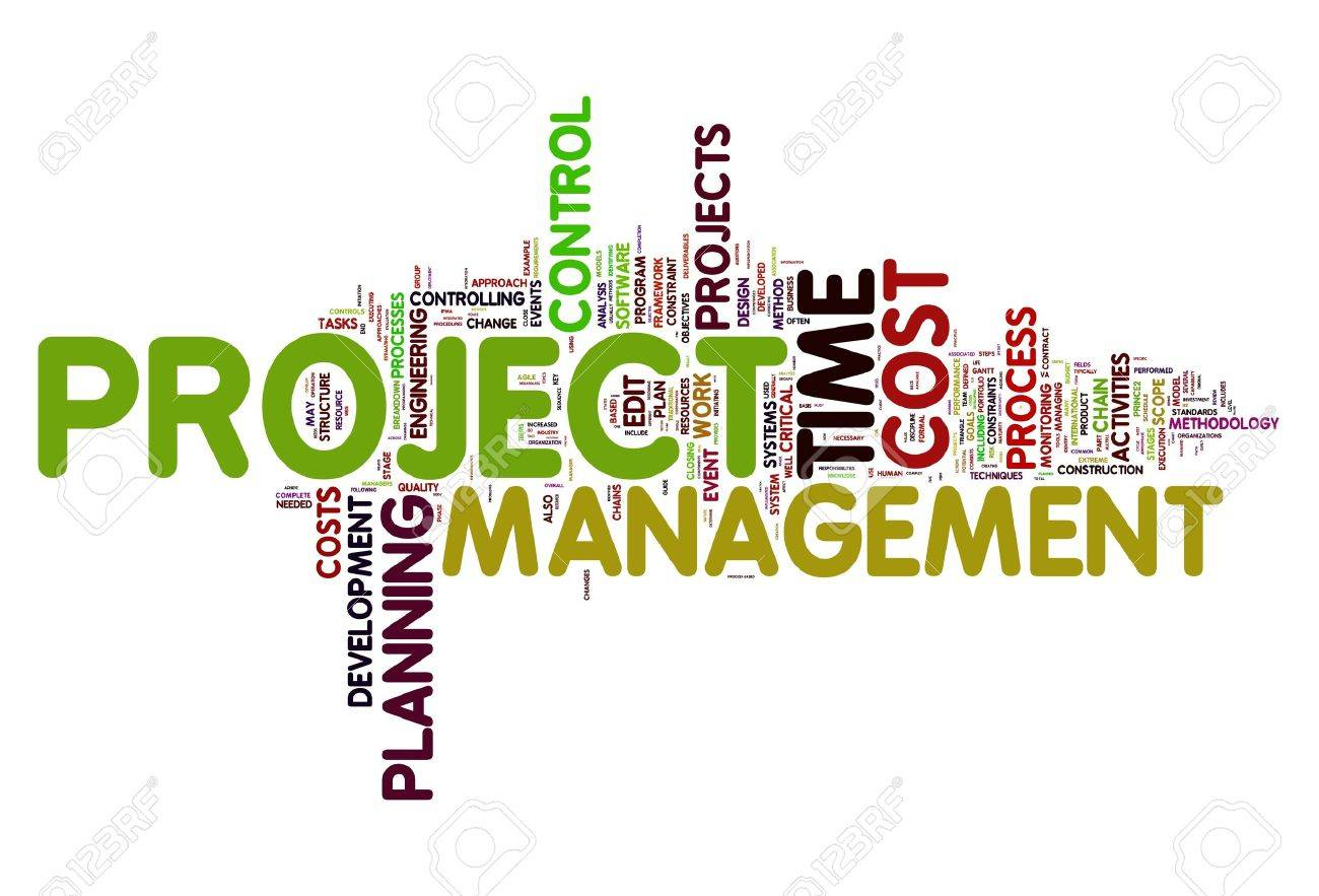 Project management concept in word tag cloud Stock Photo - 10493601