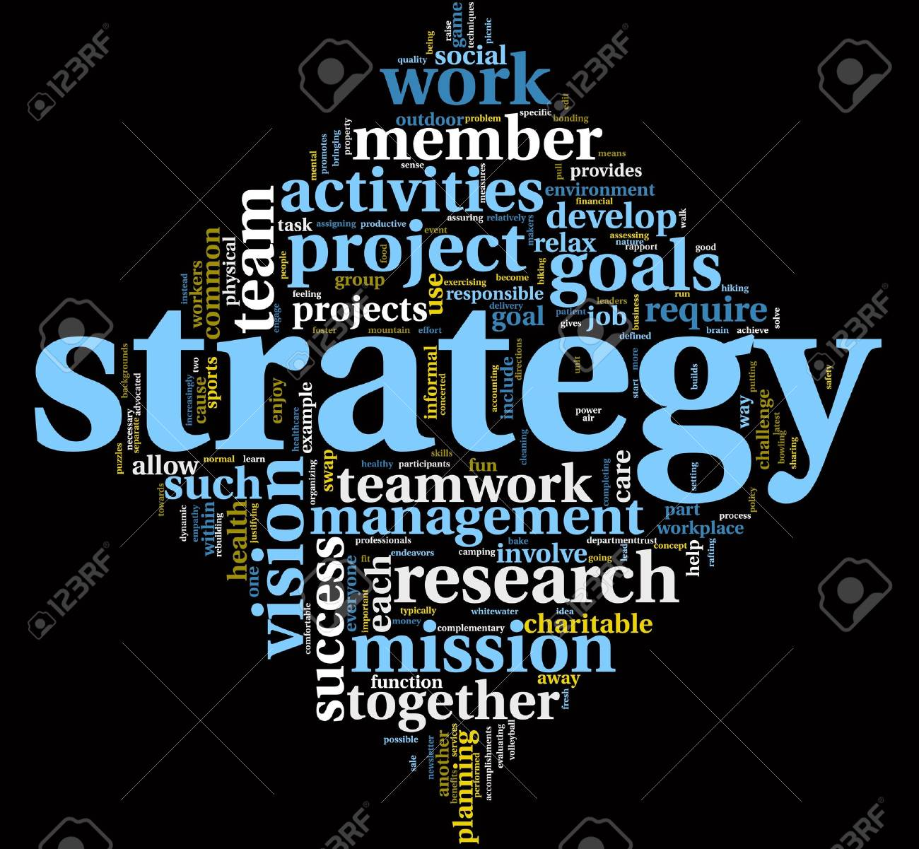 Strategy and management concept in word tag cloud Stock Photo - 10671748