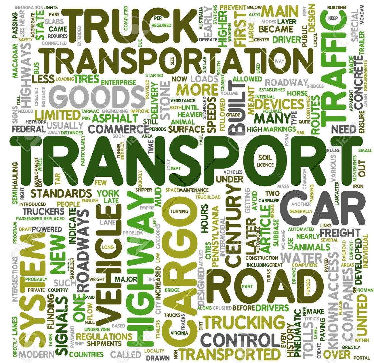 Transport and cargo concept related words in tag cloud Stock Photo - 10706430