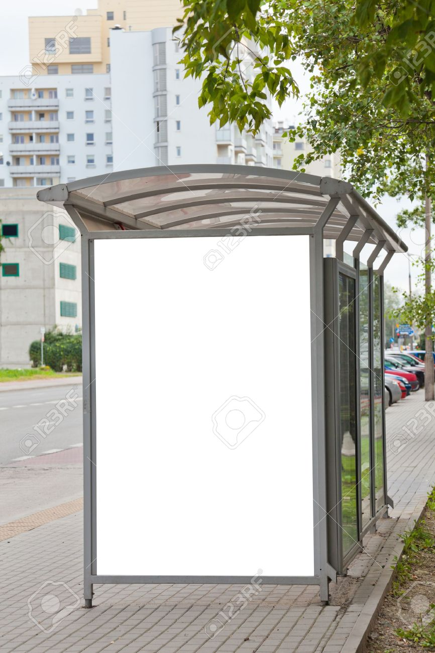 Blank billboard on bus stop for your advertising Stock Photo - 11596164