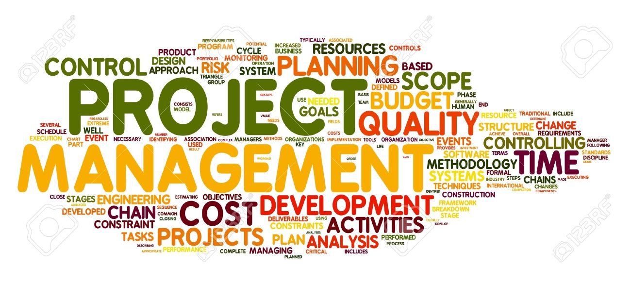Project Management Concept In Word Tag Cloud Stock Photo, Picture ...