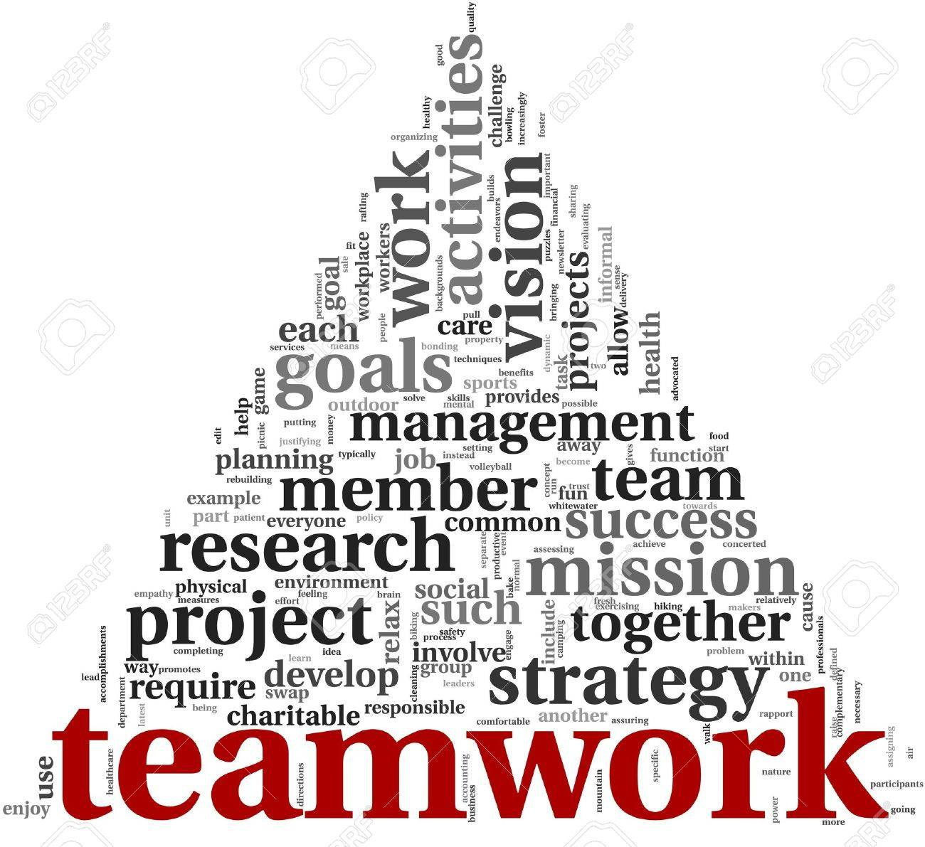 Teamwork And Strategy Concept In Word Tag Cloud Stock Photo ...