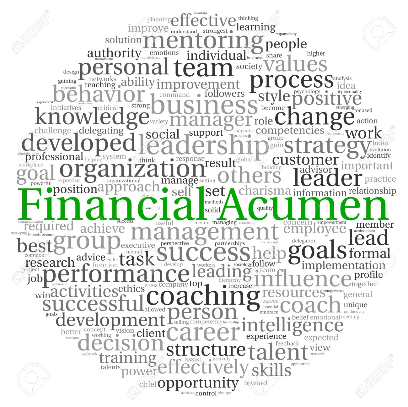 Financial Acumen concept in word tag cloud on white background Stock Photo - 13764439